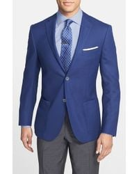 Corneliani - Blue Classic Fit Wool & Flax Blazer for Men - Lyst