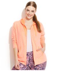 Calvin Klein - Orange Performance Plus Size Hoodie - Lyst