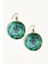 Beijo Brasil - Green Echeveria From The Norm Earrings - Lyst