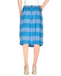 Burberry Brit - Blue Knee Length Skirt - Lyst