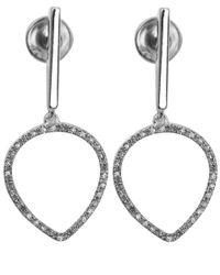 Monica Vinader | Metallic Silver Riva Diamond Hoop Earrings | Lyst