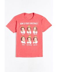 Urban Outfitters | Red Elf Merry Joyful Thrilling Tee for Men | Lyst