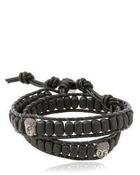 Colana - Black Double Wrap Onyx Bracelet - Lyst