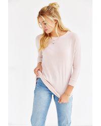 Kimchi Blue - Pink Elle Cozy Tunic Top - Lyst