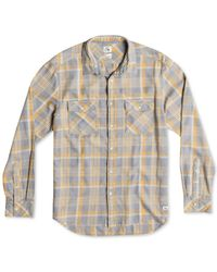 Quiksilver | Purple Tang Titan Flannel Plaid Acid-wash Shirt for Men | Lyst