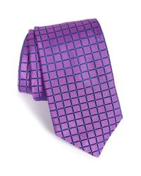 Ted Baker | Purple 'squared Grid Ii' Silk Tie for Men | Lyst