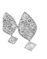 Stone - Gatbsy 18kt White Gold Single Earring With White Diamonds - Lyst