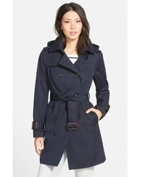 London Fog | Blue Heritage Trench Coat With Detachable Liner | Lyst