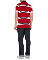 Howick - Red Hursley Stripe Short Sleeve Rugby for Men - Lyst