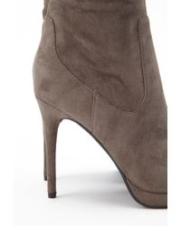 Forever 21 | Brown Faux Suede Over-the-knee Boots | Lyst