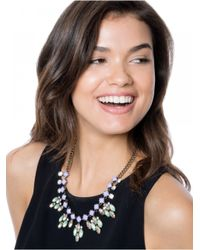 BaubleBar - Metallic Crystal Elsa Bib-green/antique Gold - Lyst