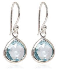 Dinny Hall - Metallic Silver Blue Topaz Jaipur Drop Earrings - Lyst