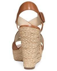 Michael Kors - Brown Michael Giovanna Platform Wedge Sandals - Lyst