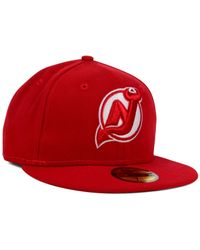 KTZ | Red New Jersey Devils C-Dub 59Fifty Cap for Men | Lyst