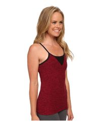 Beyond Yoga - Red Mesh Triangle Cami - Lyst