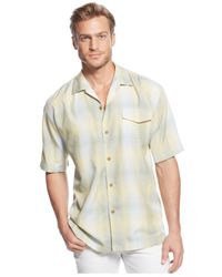 Tommy Bahama - Natural Tropic Wind Plaid Shirt for Men - Lyst