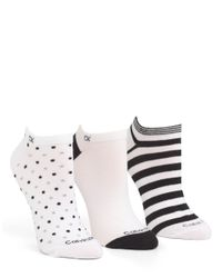 Calvin Klein | Black Assorted Pattern Anklet Socks - Three Pack | Lyst