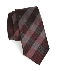 Burberry | Brown 'manston' Check Silk Tie for Men | Lyst
