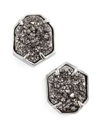 Kendra Scott | Metallic 'taylor' Stud Earrings | Lyst