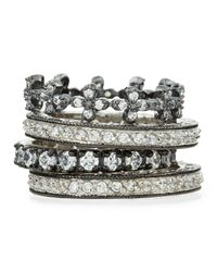 Freida Rothman | Metallic Set Of Four Cz Eternity Rings | Lyst