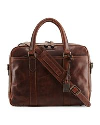 Frye - Brown Logan Leather Briefcase for Men - Lyst