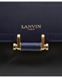Lanvin | Black Jeanne Bicolour Leather Bag for Men | Lyst