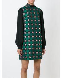 Au Jour Le Jour - Green Star Jacquard Dress - Lyst