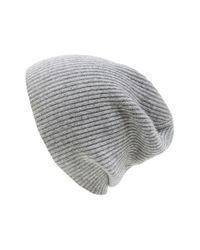 Vince | Gray Ribbed & Marled Cashmere Beanie for Men | Lyst