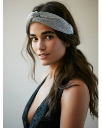 Free People | Gray Womens Metallic Mesh Headband | Lyst
