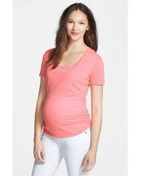 Bun Maternity | Pink Nursing Tee | Lyst