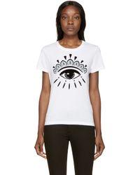 KENZO | White Eye Logo T_shirt | Lyst