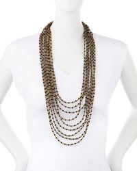 Nakamol | Multicolor Multi-strand Crystal Bead Necklace | Lyst