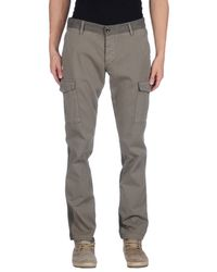 Armani Jeans - Gray Casual Trouser for Men - Lyst