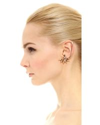 Elizabeth Cole | Metallic Carrie Earring Set - Golden Neutral | Lyst