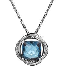 David Yurman | Infinity Medium Pendant With Hampton Blue Topaz On Chain | Lyst