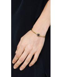 Elizabeth and James | Metallic Erro Bangle Bracelet - Gold/Black | Lyst