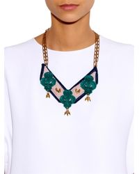Lulu Frost   Green Katherine Bib Necklace   Lyst