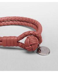 Bottega Veneta - Brown Boucher Intrecciato Nappa Bracelet for Men - Lyst