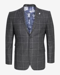 Ted Baker | Gray Veerity Diamond Jacquard Suit Jacket for Men | Lyst