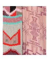 Etro - Pink Embellished Printed Crepe Cape - Lyst