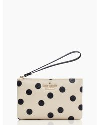 kate spade new york | Black Cedar Street Dot Bee Wristlet | Lyst