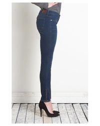 Henry & Belle - Blue Super Skinny Ankle W/ Zipper - Lyst