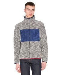 Altru | Blue French Terry Funnel Neck Jacket for Men | Lyst