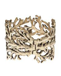 Aurelie Bidermann | Metallic Large Arm Tree Cuff | Lyst