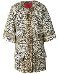 Moncler Gamme Rouge - Multicolor Leopard Print Coat - Lyst