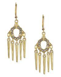 Sam Edelman | Metallic Pave Pronged Spike Drop Earrings | Lyst