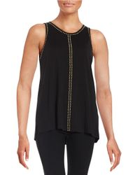 Vince Camuto | Black Embellished Sleeveless Top | Lyst