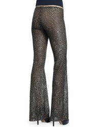 Michael Kors - Black Sequinned Mesh-Illusion Pants - Lyst