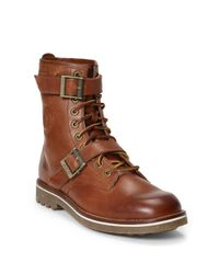 Polo Ralph Lauren - Brown Maurice Oiled Leather Boot for Men - Lyst