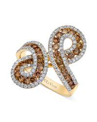 Le Vian - Metallic 14k Gold Chocolate 1110 Ct Tw and White Diamond 12 Ct Tw Infinity Ring - Lyst